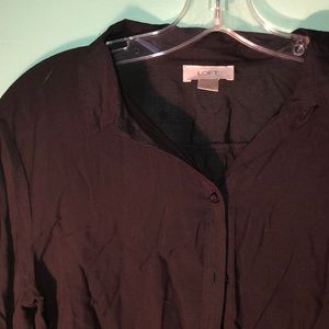 Loft button down silky blouse - will steam!